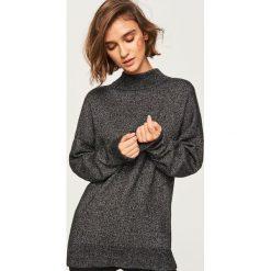 Luźny sweter z półgolfem - Wielobarwn. Szare swetry klasyczne damskie Reserved, l. Za 99,99 zł.