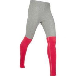 Legginsy sportowe, długie, Level 1 bonprix jasnoszary melanż - czerwony. Czerwone legginsy we wzory bonprix. Za 79,99 zł.