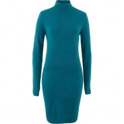 Sukienka dzianinowa ze stójką bonprix niebieskozielony morski. Zielone sukienki dzianinowe marki Reserved. Za 54,99 zł.
