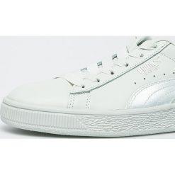Puma - Buty Basket Bow. Szare buty sportowe damskie Puma, z gumy. W wyprzedaży za 299,90 zł.
