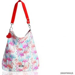 Torebki i plecaki damskie: Torba we flamingi