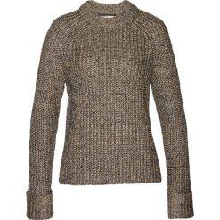 Sweter z metaliczną nitką bonprix brunatny. Brązowe swetry klasyczne damskie marki bonprix, z dzianiny. Za 129,99 zł.