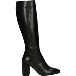 Kozaki - 19891 BUF BLA. Czarne buty zimowe damskie Venezia, ze skóry. Za 749,00 zł.