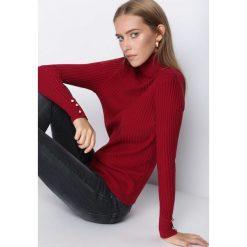Swetry damskie: Bordowy Golf Someone Different