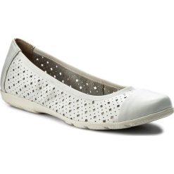 Baleriny CAPRICE - 9-22151-20 White Nappa 102. Szare baleriny damskie marki Caprice, z gumy. W wyprzedaży za 149,00 zł.