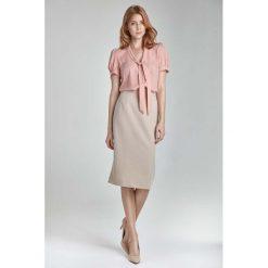 Spódniczki: Beżowa Ołówkowa Elegancka Spódnica