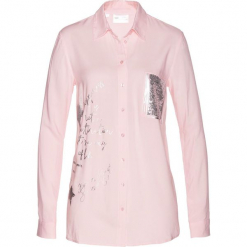 Długa bluzka bonprix pastelowy jasnoróżowy. Czerwone bluzki longsleeves marki OLAIAN, s, z materiału. Za 99,99 zł.