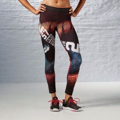 Spodnie sportowe damskie: Reebok Spodnie damskie One Series Retina Tight bordowe r. L (AI1612)