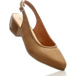 Buty ślubne damskie: Czółenka z paskiem bonprix wielbłądzia wełna