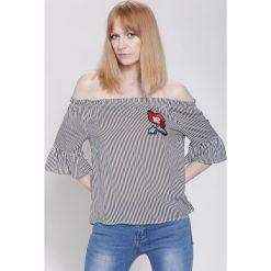 Bluzki asymetryczne: Czarno-Czerwona Bluzka Pina Colada