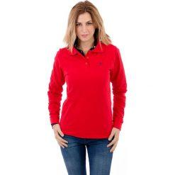 Koszulka polo w kolorze czerwonym. Czerwone t-shirty chłopięce Polo Club, z haftami, z bawełny, z krótkim rękawem. W wyprzedaży za 84,95 zł.