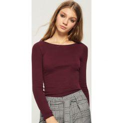 Bluzki damskie: Bluzka Basic - Bordowy