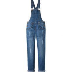 """Jeansy dziewczęce: Dżinsy ogrodniczki bonprix niebieski """"stone"""""""
