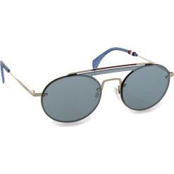Okulary przeciwsłoneczne damskie aviatory: Okulary przeciwsłoneczne TOMMY HILFIGER – Th Gigi Hadid3 Gold Silver 83I