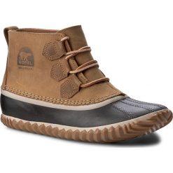 Botki SOREL - Out N About NL2133 Elk 286. Brązowe buty zimowe damskie Sorel, z gumy. W wyprzedaży za 309,00 zł.