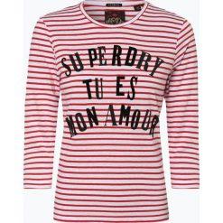 Superdry - Koszulka damska, czerwony. Szare t-shirty damskie marki Superdry, l, z nadrukiem, z bawełny, z okrągłym kołnierzem. Za 189,95 zł.