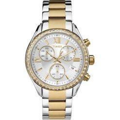 Zegarek Timex Damski TW2P67000  Chronograf srebrno-złoty. Szare zegarki damskie Timex, złote. Za 463,50 zł.