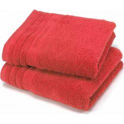 Kąpielówki męskie: Ręcznik w kolorze czerwonym