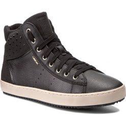 Sneakersy GEOX - J Kalispera G. E J744GE 0NQAF C9999 D Black. Czarne buty sportowe chłopięce marki Kazar, z nubiku, przed kolano, na wysokim obcasie. W wyprzedaży za 219,00 zł.