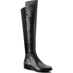 Muszkieterki MICHAEL KORS - Bromley Flat Boot 40F7BOFB5L Black. Czarne buty zimowe damskie marki Michael Kors, z materiału, przed kolano, na wysokim obcasie. W wyprzedaży za 659,00 zł.
