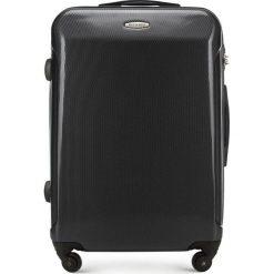 Walizka średnia 56-3P-972-10. Czarne walizki marki Wittchen, z gumy, średnie. Za 199,00 zł.