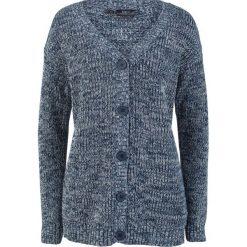 Sweter rozpinany melanżowy bonprix ciemnoniebieski melanż. Zielone kardigany damskie marki bonprix, w kropki, z kopertowym dekoltem, kopertowe. Za 59,99 zł.