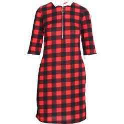 Czerwona Sukienka Everybody Does. Czerwone sukienki mini marki Born2be, l, oversize. Za 49,99 zł.