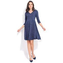 Fille Du Couturier Sukienka Damska Emeraude 40 Niebieski. Niebieskie długie sukienki Fille Du Couturier, z długim rękawem. Za 229,00 zł.
