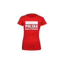 T-shirty damskie: T-shirt damski Polska Biało-Czerwoni S337896 rozm. L czerwony
