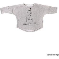 Bluza Addicted to Milk - szary. Szare bluzy dziewczęce rozpinane marki Pakamera, z bawełny. Za 60,00 zł.