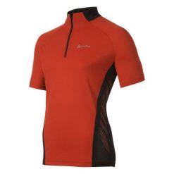 Odlo Koszulka rowerowa Golf Stand-up collar s/s 1/2 zip Acrion czerwona r. S (410632). Koszulki do golfa męskie Odlo, m. Za 86,69 zł.