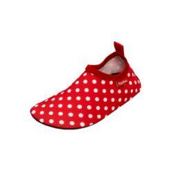 Playshoes  Buty do wody uni red - czerwony - Gr.Moda (6 - 24 miesięcy ). Czerwone buciki niemowlęce chłopięce Playshoes, z materiału. Za 49,00 zł.