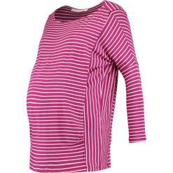 Bluzki asymetryczne: JoJo Maman Bébé DROP SHOULDER MATERNITY NURSING Bluzka z długim rękawem wine/cream