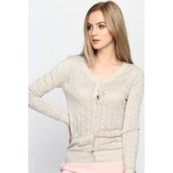 Swetry damskie: Khaki Kardigan Tendency