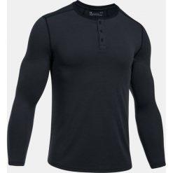 Under Armour Koszulka męska Threadborne Knit Fitted Henley czarna r. XL (1298403-090). Czarne koszulki sportowe męskie Under Armour, m. Za 129,00 zł.