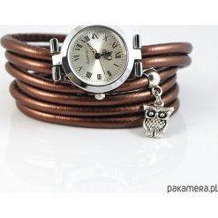 Zegarki damskie: Zegarek, bransoletka - Brązowy - Sowa