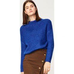 Miękki sweter z półgolfem - Niebieski. Niebieskie swetry klasyczne damskie Reserved, l. Za 119,99 zł.