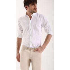 Koszule męskie na spinki: KOSZULA DŁUGI RĘKAW MĘSKA SLIM FIT