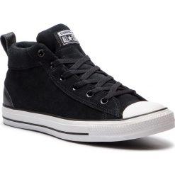 Trampki CONVERSE - Ctas Street Mid 161465C Black/Black/White. Czarne trampki męskie Converse, z gumy. W wyprzedaży za 239,00 zł.