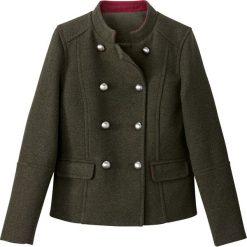 Płaszcze damskie pastelowe: Płaszcz krótki w stylu wojskowym, 40% wełny