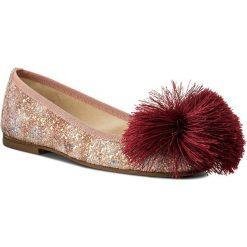 Baleriny HEGO'S MILANO - 1033-1 Glitter Multi Rosa+Pon Pon. Czerwone baleriny damskie Hego's Milano, z materiału. W wyprzedaży za 299,00 zł.