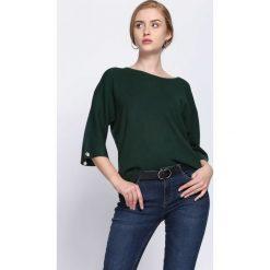 Swetry klasyczne damskie: Zielony Sweter Running Circles