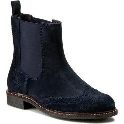 Sztyblety FILIPE - 8455 Marinho 3328. Niebieskie buty zimowe damskie Filipe, ze skóry, na obcasie. W wyprzedaży za 259,00 zł.