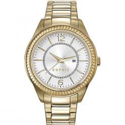 Zegarek kwarcowy w kolorze srebrno-złotym. Żółte, analogowe zegarki damskie Esprit Watches, ze stali. W wyprzedaży za 318,95 zł.