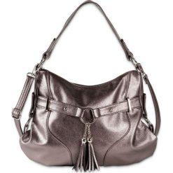 Torebka bonprix szarobrązowy metaliczny - srebrny metaliczny. Brązowe shopper bag damskie marki bonprix. Za 129,99 zł.