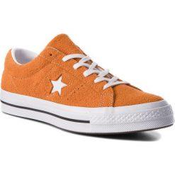 Tenisówki CONVERSE - One Star Ox 161574C Bold Mandarine/White/White. Brązowe tenisówki męskie Converse, z gumy. W wyprzedaży za 279,00 zł.