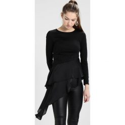 Lost Ink ASYMMETRIC MIX TOP Bluzka z długim rękawem black. Czarne bluzki asymetryczne Lost Ink, z elastanu. Za 149,00 zł.