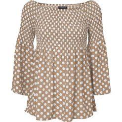 Bluzki, topy, tuniki: Koszulka w kolorze beżowo-białym