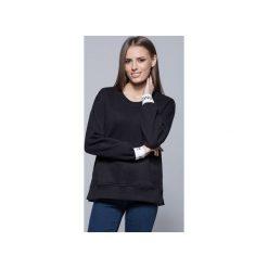 Bluzy rozpinane damskie: Bawełniana bluza czarna  H008