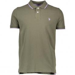 Koszulka polo w kolorze khaki. Brązowe koszulki polo marki U.S. Polo Assn., m, z haftami. W wyprzedaży za 130,95 zł.